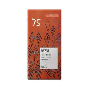 Dark Chocolate with 75% Cocoa Panama and Coconut Blossom Sugar 80g | Organic Chocolate | Vivani