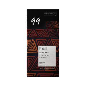 Dark Chocolate with 99% Cocoa Panama and Coconut Blossom Sugar 80g | Organic Chocolate | Vivani