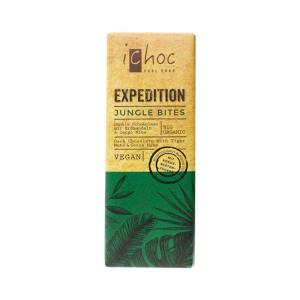 Vegan Dark Chocolate with Tiger Nuts, Cacao Nibs and Coconut Blossom Sugar 50g | Organic i-choc  Chocolate | Vivani