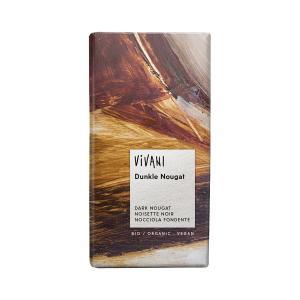 Σοκολάτα Μαύρη με Γέμιση Νουγκατίνα 100g | Βιολογική  Σοκολάτα | Vivani