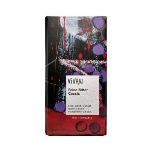 Dark Chocolate with Cassis 100g | Organic Chocolate | Vivani