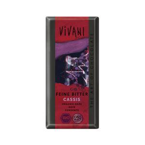 Σοκολάτα Μαύρη με Γέμιση Φραγκοστάφυλο 100g | Βιολογική  Σοκολάτα | Vivani