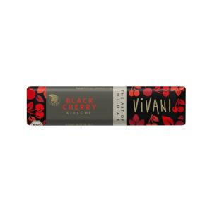 Dark Chocolate with Sour Cherry Pieces 35g | Organic Chocolate | Vivani