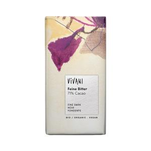 Dark Chocolate 71% Cocoa 100g | Organic Chocolate | Vivani
