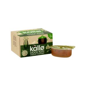 Concentrated Vegetable Stock Pots 4x24g | Organic Vegan Gluten Free | Kallo
