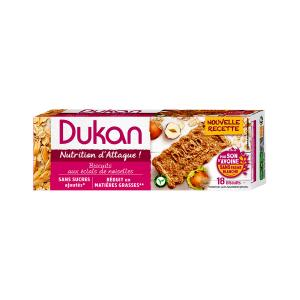Dukan Μπισκότα Βρώμης με Γεύση Φουντούκι 225g | Υγιεινό Σνακ Χωρίς Ζάχαρη Πλούσιο σε Φυτικές Ίνες | Dukan
