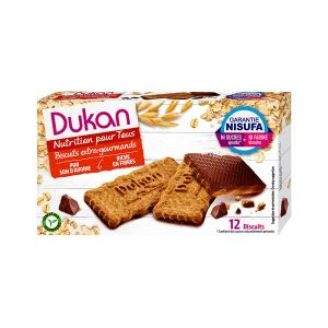 Dukan Chocolate Coated Oat Bran Biscuits 200g | Sugar Free High Fiber Healthy Snack | Dukan