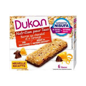 Dukan Μπάρες Βρώμης με Σοκολάτα και Πορτοκάλι (6x25g) 150g | Υγιεινό Σνακ Χωρίς Ζάχαρη Χωρίς Λιπαρά | Dukan