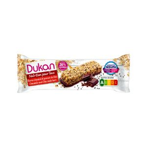 Dukan Oat Bran Bar with Chocolate and Chia Seeds 37g | Healthy Snack High Fiber No Added Sugar | Dukan