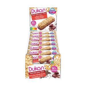 Dukan Μπάρες Βρώμης με Επικάλυψη Σοκολάτας και Σπόρους Chia 37g | Υγιεινό Σνακ Χωρίς Ζάχαρη Χωρίς Λιπαρά | Dukan