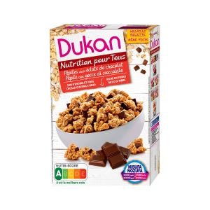 Dukan Oat Bran with Chocolate Chips 350g | Healthy Cereals No Added Sugar | Dukan