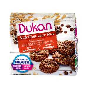 Dukan Mini Oat Cookies with Chocolate Chips 100g | No Added Sugar Low Calories | Dukan