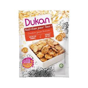 Dukan Salty Oat Pretzels 100g | Sugar Free High Fiber Healthy Snack | Dukan