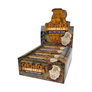 Carb Killa Μπάρες Υψηλής Πρωτεΐνης Caramel Chaos 60g | Σνάκ Χωρίς Ζάχαρη | Grenade