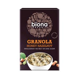 Granola with Honey and Hazelnuts 375g | Organic No Added Sugar No Added Salt | Biona