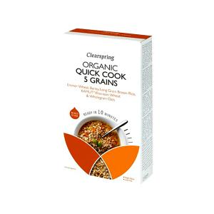 Organic Quick Cook 5 Grains 250g | No Added Sugar No Added Salt Vegan Vegetarian |  Clearspring