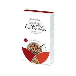 Organic Quick Cook Rice and Quinoa 250g | No Added Sugar No Added Salt Vegan Vegetarian | Clearspring