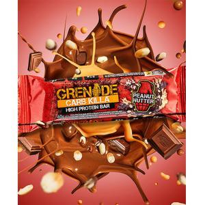 Carb Killa Μπάρες Υψηλής Πρωτεΐνης Peanut Nutter 60g | Σνάκ Χωρίς Ζάχαρη | Grenade