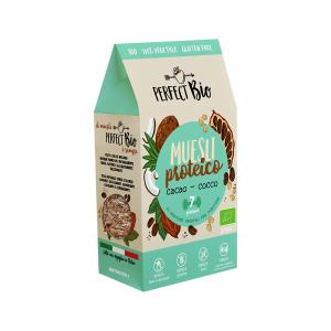Protein Muesli Choco and Coconut 275g | Gluten Free Organic Vegan Cereals | Perfect Bio
