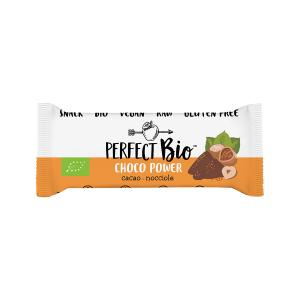 Choco Power Raw Bar with Cacao and Hazelnuts 38g | Gluten Free Organic Vegan Snack | Perfect Bio