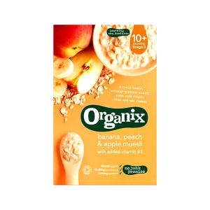 Banana Peach and Apple Muesli 200g | Organic Vegan Cereals For Kids | Organix
