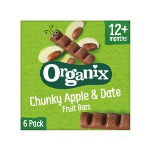Organic Apple and Dates Fruit Bars (6x17g) 102g | Vegetarian Snack for Kids No Added Sugar No Added Salt | Goodies Organix