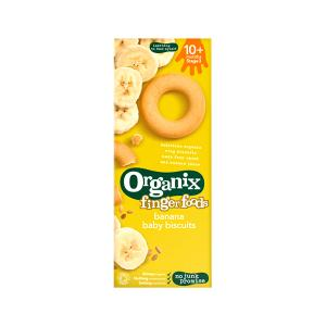 Biscuits Banana Finger 54g | Organic Snack For Kids No Added Sugar No Added Salt | Organix