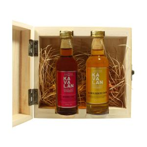 Kavalan Bourbon and Sherry Cask Set Miniature 96ml | Single Malt Whisky | Kavalan