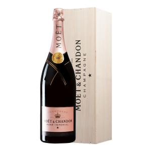Moet & Chandon Rose Imperial Champagne in Wooden Box 3.0L | Moet & Chandon
