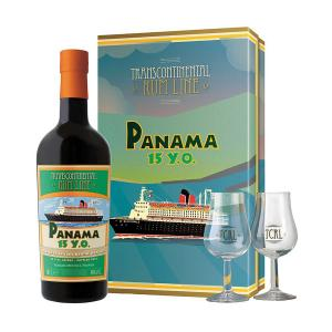 Rum Panama 15 Y.O. TCRL Gift Box with 2 Glasses 700ml | Transcontinental Rum Line - La Maison du Whiskey