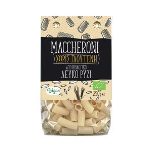 Maccheroni από Λευκό Ρύζι 250g | Βιολογικό  Ζυμαρικό Χωρίς Γλουτένη | Greenbay