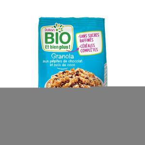 Granola με Κομμάτια Σοκολάτας και Καρύδα 350g | Βιολογικά Δημητριακά Πλούσια σε  Φυτικές Ίνες | Dukan