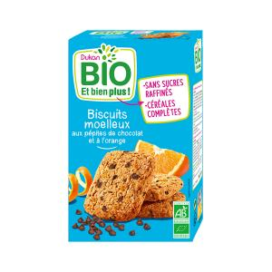 Dukan Oat Bran Biscuits with Chocolate Chips and Orange 150g | Organic High Fiber Healthy Snack | Dukan
