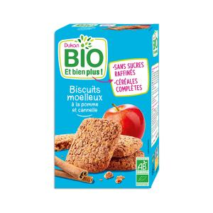 Dukan Oat Bran Biscuits  with Apple and Cinnamon 150g | Organic High Fiber Healthy Snack | Dukan