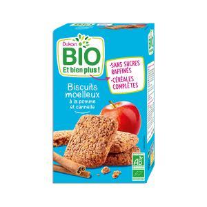 Μπισκότα Βρώμης με Μήλο και Κανέλα 150g  | Βιολογικό Υγιεινό Σνακ | Dukan