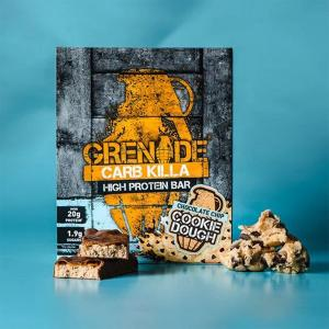 Carb Killa Μπάρες Υψηλής Πρωτεΐνης Chocolate Chip Cookie Dough 60g   Σνάκ Χωρίς Ζάχαρη   Grenade