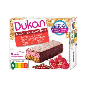 Dukan Oat Bran Bar with Chocolate and Berries 120g | Healthy Snack High Fiber No Added Sugar | Dukan