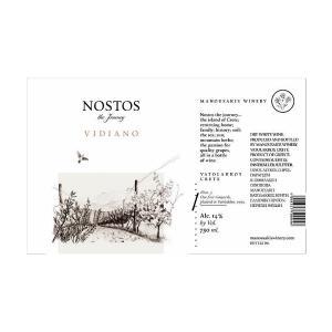 Nostos Βιδιανό | Λευκός Ξηρός Βιδιανό (2018) 750ml | Οινοποιία Μανουσάκη
