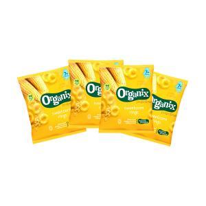 Sweetcorn Rings Fingerfoods (4 bags of 20g) | Nutritious Organic Vegan Gluten Free Snack For Kids | Organix