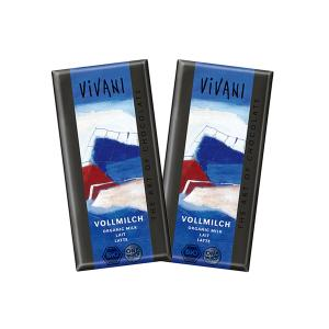 Milk chocolate (2 pieces of 100g) - Vivani
