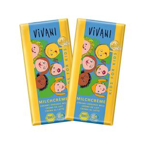 Milk Chocolate for Kids (2 pieces of 100g) - Organic Chocolate | Vivani