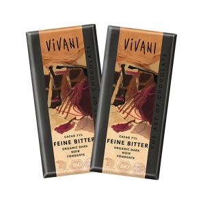 Dark Chocolate 71% Cocoa (2 pieces of 100g) - Organic Chocolate | Vivani