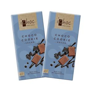 "Vegan Chocolate ""Choco Cookie"" with Rice Drink (2 pieces of 80g) - Organic Chocolate 