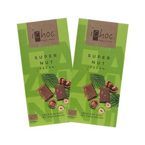 Super Nut | Organic i-choc Chocolate with Nuts and Rice Drink (2 pieces of 80g) - Vivani