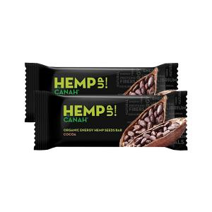 Organic Hemp Seed Bar with Cacao (2 pieces of 48g) - No Added Sugar No Added Salt  Vegan | Canah