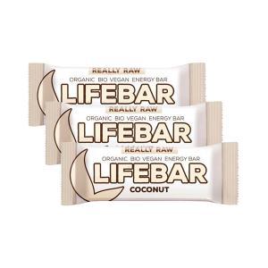 Μπάρα Ενέργειας Καρύδα (3 τεμάχια των 47g) - Ωμό Βιολογικό Σνακ Χωρίς Γλουτένη | Lifefood