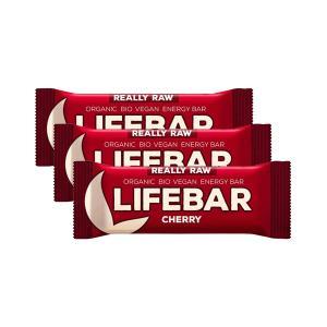 Μπάρα Ενέργειας Κεράσι (3 τεμάχια των 47g) - Ωμό Βιολογικό Vegan Σνακ Χωρίς Γλουτένη   Lifefood