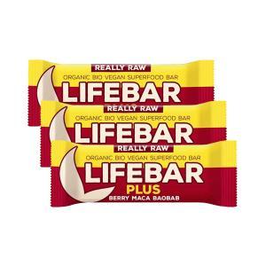 Μπάρα Ενέργειας με Maca και Υπερτροφές (3 τεμάχια των 47g) - Ωμό Βιολογικό Vegan Σνακ Χωρίς Γλουτένη | Lifefood