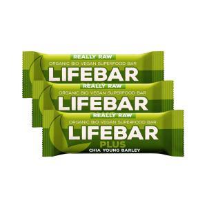 Μπάρα Ενέργειας με Σπόρους Chia και Φυστίκια (3 τεμάχια των 47g) Ωμό Βιολογικό Vegan Σνακ Χωρίς Γλουτένη | Lifefood