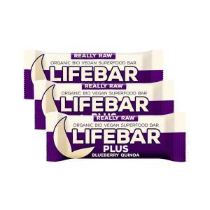 Μπάρα Ενέργειας Μύρτιλο και Κινόα (3 τεμάχια των 47g) - Ωμό Βιολογικό Vegan Σνακ Χωρίς Γλουτένη | Lifefood